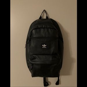 Black leather Adidas backpack